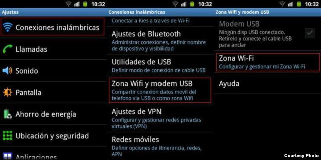 Bluetooth Wi-Fi Android