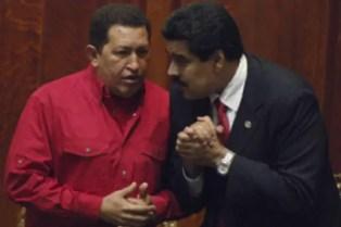 Hugo Chávez y Nicolás Maduro (foto tomada de Internet)