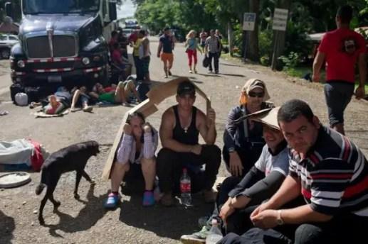 Cubanos varados en Costa Rica (foto tomada de Internet)