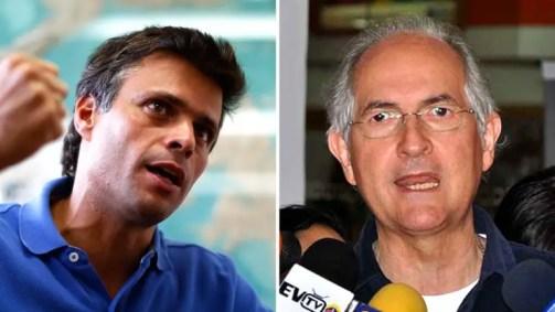 Leopoldo López y Antonio Ledezma, los presos políticos más importantes de Venezuela (foto: Infobae)