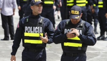 Policías de Costa Rica (Foto: Pamela Jiménez/lapatilla.com)