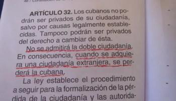 La negación de la doble ciudadanía está refrendada en la constitución (Foto: Alberto Méndez)