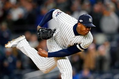 Aroldis Chapman new york yankees  béisbol grandes ligas mlb peloteros cubanos