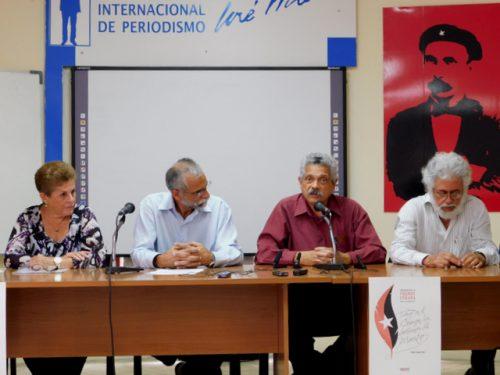 De izquierda a derecha, Dolores Guerra, Ariel Terrero, Pedro Pablo Rodríguez y Luis Toledo Sande (Foto: YAG)