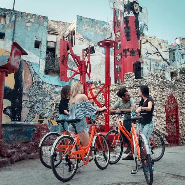 Underground bike tour