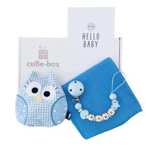 babygeschenk jungs hellblau eulenwaermekissen min