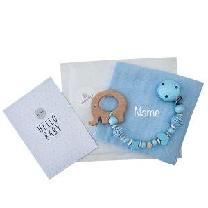 cuBe-box Babygeschenke geschenkset nuschleli blau