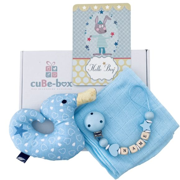 baby geschenk jungs entenrassel hellblau herz