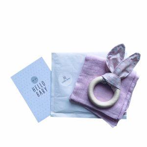 geschenkset beissring in rosa