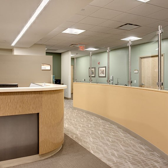 The Elliot at River's Edge Reception Area in Manchester NH