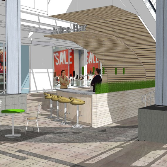 The Mall at Rockingham Park Juice bar Rendering in Salem NH