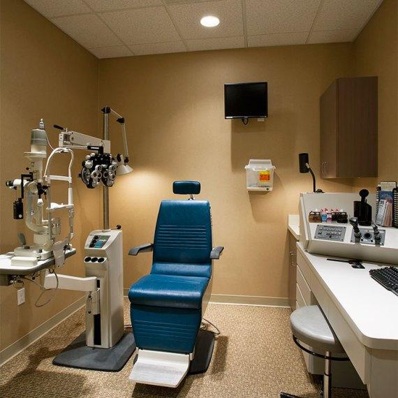 Tallman Eye Associates Examination Room renovation in Lawrence MA