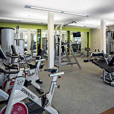 Residences at Fresh Pond fitness center in Cambridge MA