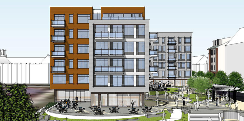 The Davis Cos. is proposing a 119-unit apartment complex at the former Hodge Boiler Works site.