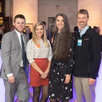 From left: Brandon Eaton (CUBE3), Tara Martin (CUBE3), Lauren Kennedy (CUBE3), Daniel Peabody (Peabody Office)