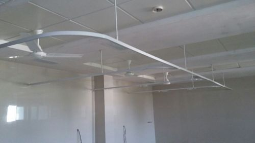 cubicle curtain tracks suspended