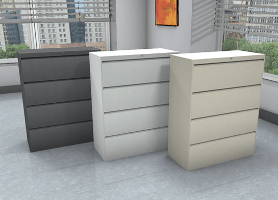 4 Drawer Lateral File Cabinet By Cubicles Com