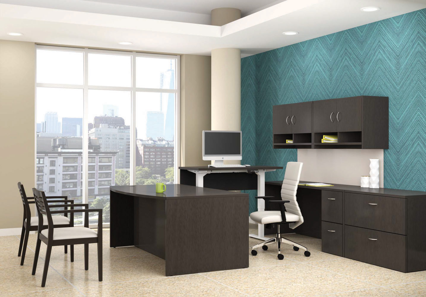 Office Desk And Chair Set Executive Furniture Office