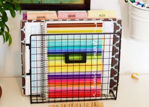 Organized color coded file folder in your home office