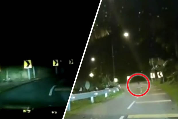 Ghostly figure captured on dashcam triggers panic