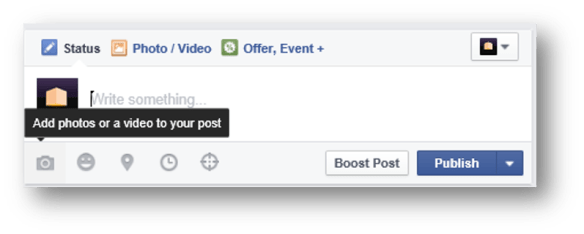 Facebook - Add Photo or Video Post