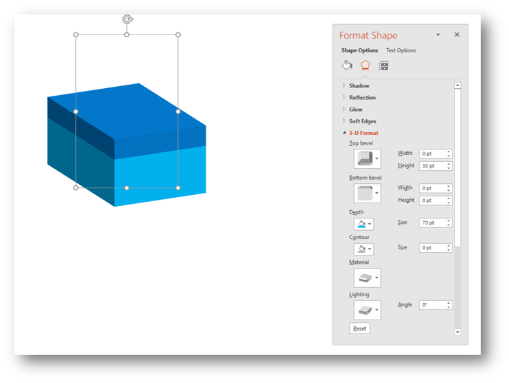 PowerPoint 3D Cuboid Example 2