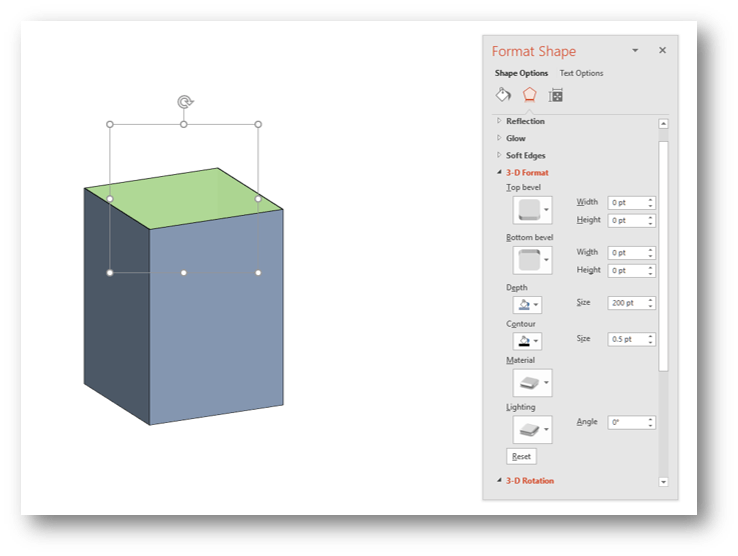 PowerPoint 3D Cuboid Example 3