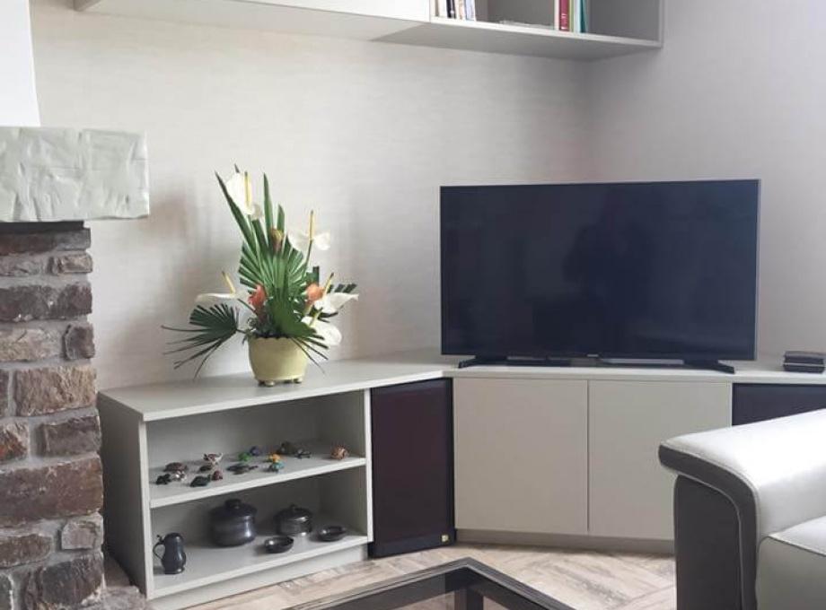 amenagement salon espace tv cubik