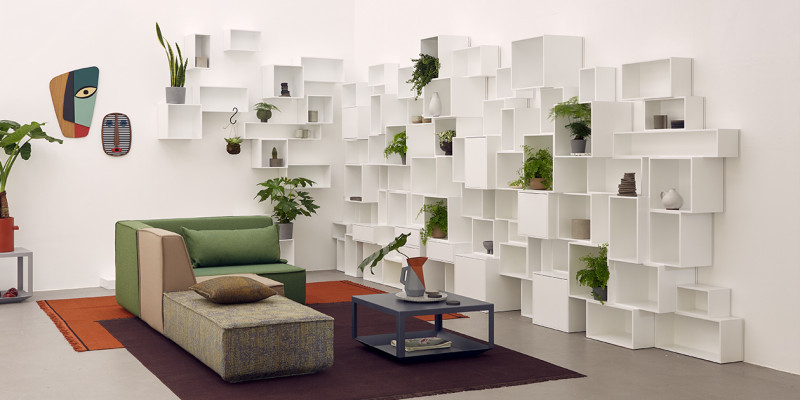 de rangement modulable avec cubes par cubit