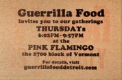 Guerrilla Food at the Pink Flamingo