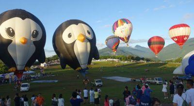 鹿野高台にある台灣國際熱氣球嘉年華(台湾国際気球カーニバル)へ行って来た。