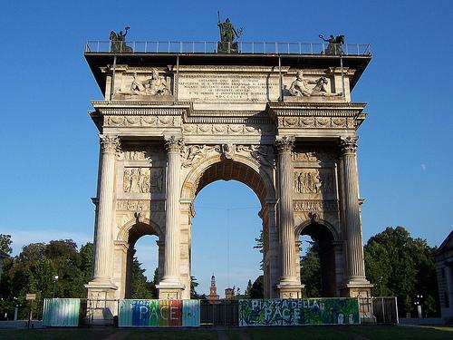 Arco de la Paz atracttivo de italia