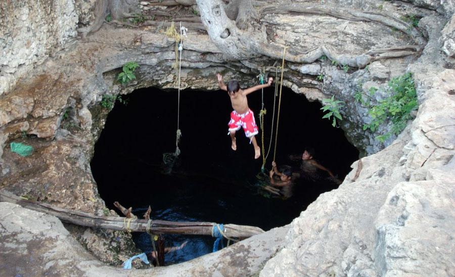 Cenote Non-Ac atractivos naturales de yucatan