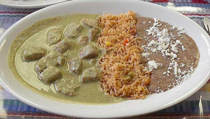 Lengua en Pipián comida de chihuahua