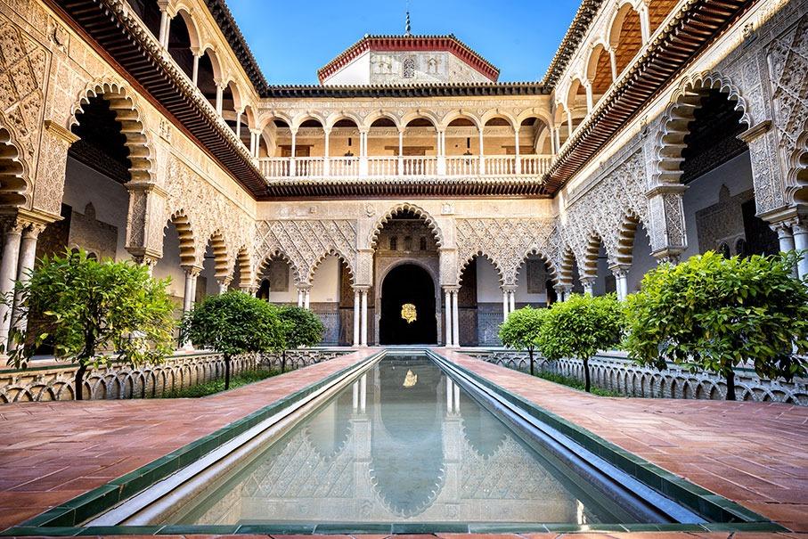 Reales Alcázares de Sevilla - Atractivo turistico de sevilla españa