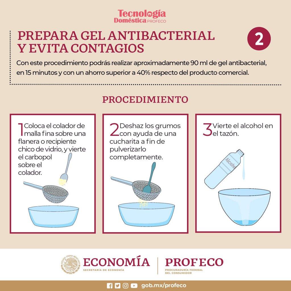 procedimiento para hacer gel antibacterial