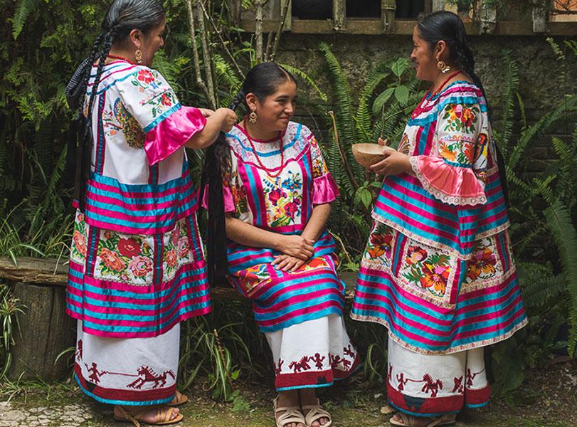 Trajes Típicosde oaxada de Huautla de Jiménez de la Sierra Mazateca