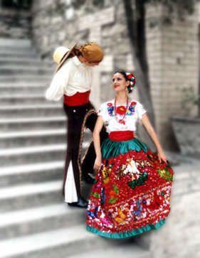 traje tipico de mujer de puebla