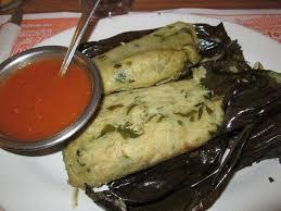 Tamales de chepil comida oaxaca