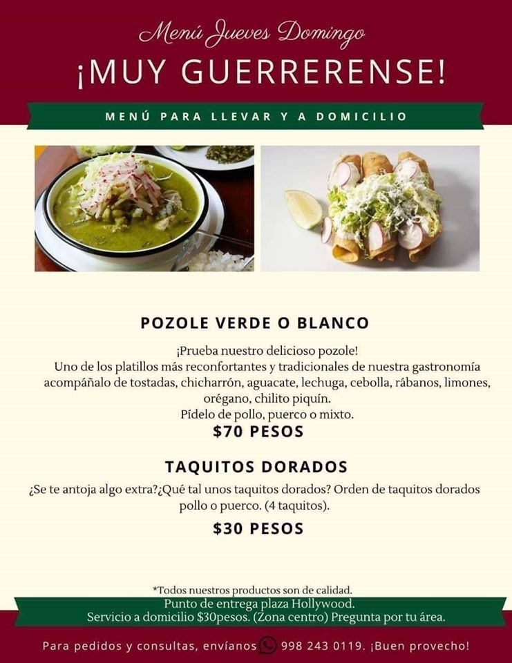 Comida italiana a domicilio en Cancun
