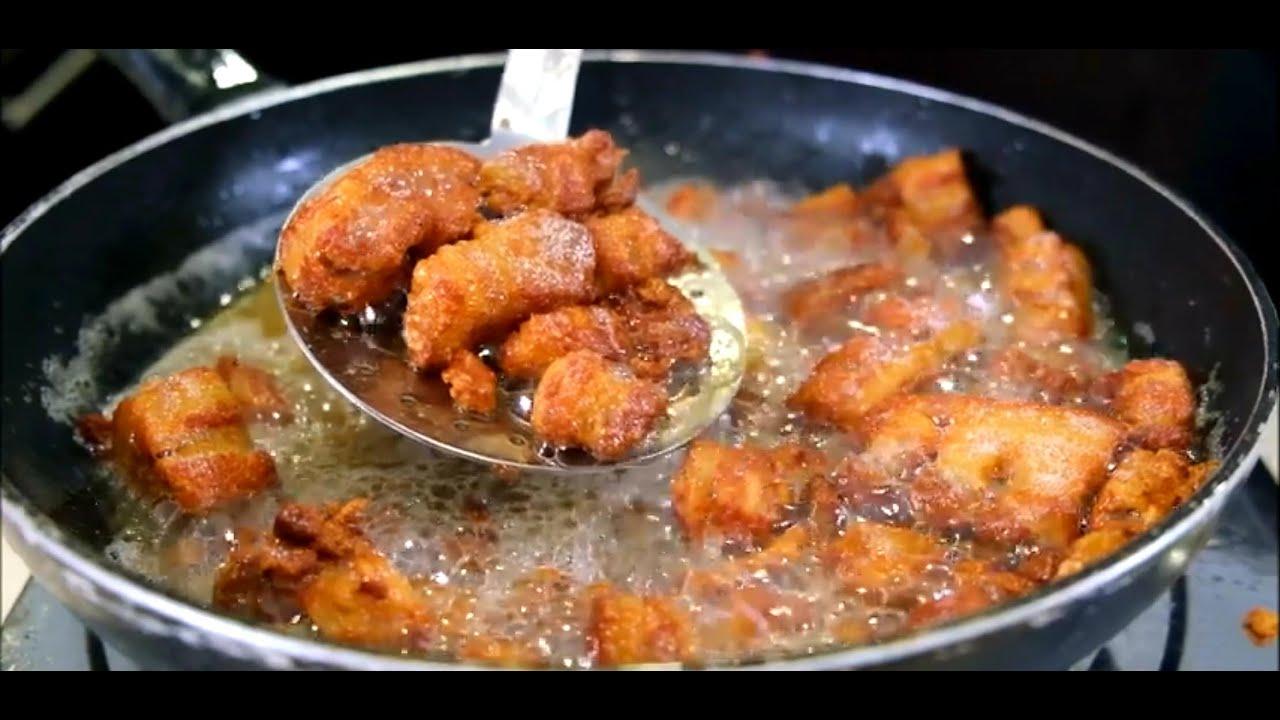 Chicharrones de cerdo comida cuba