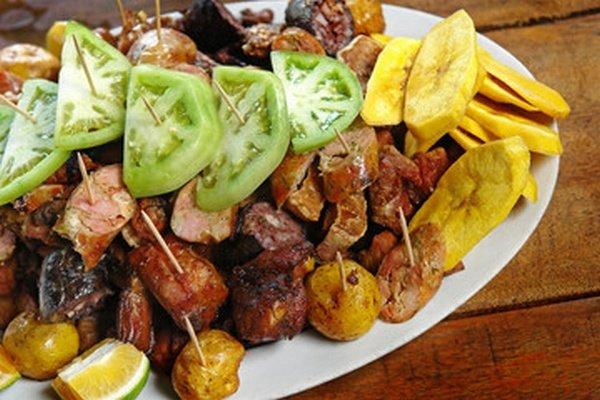 Fritanga comida colombia