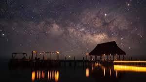 laguna bacalar de noche