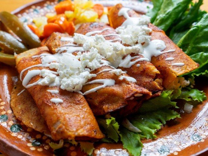 Enchiladas comida de mexico