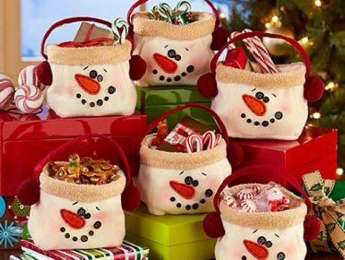 dulceros de navidad muñeco de nieve