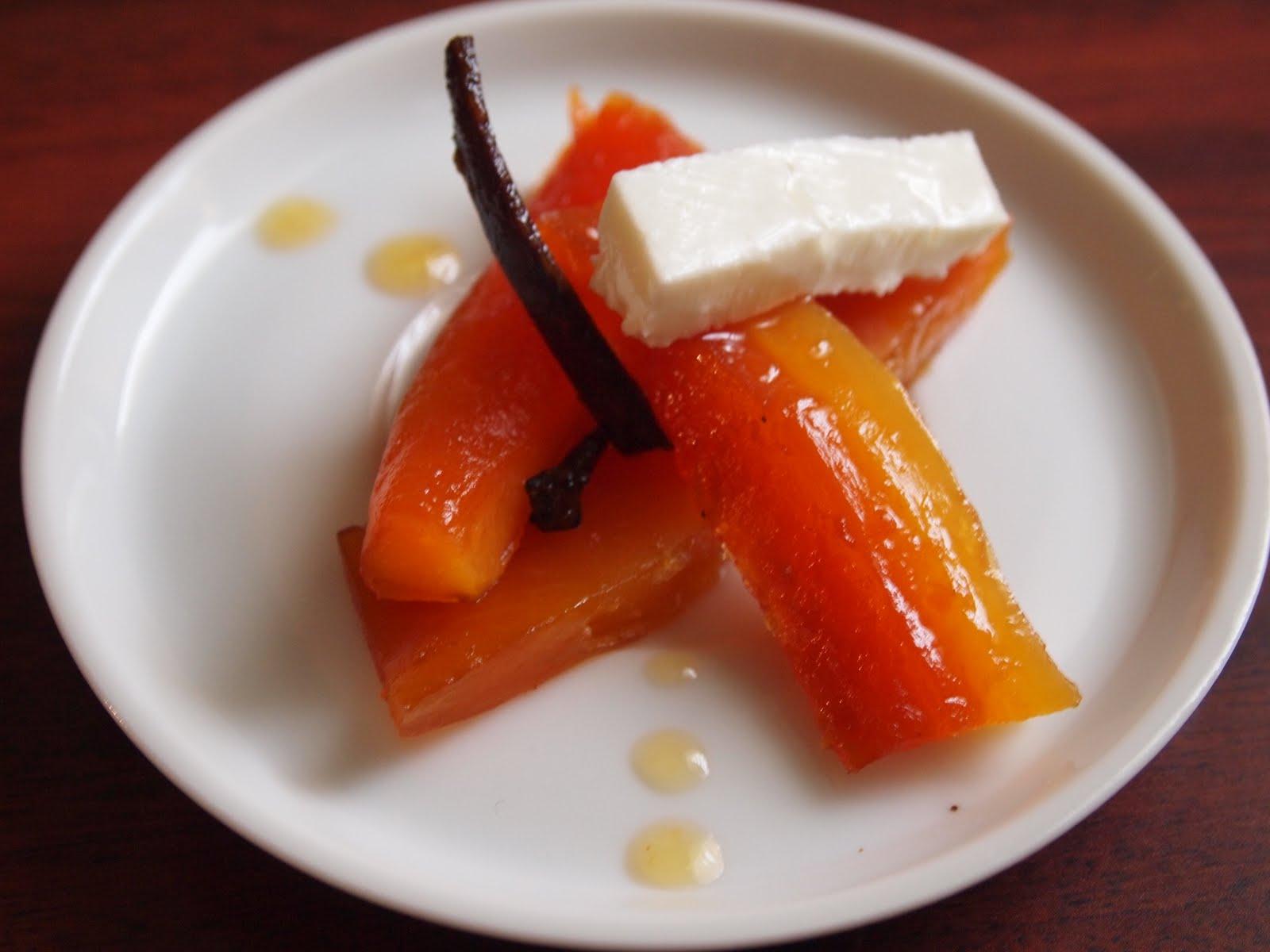 Dulce de Papaya con queso