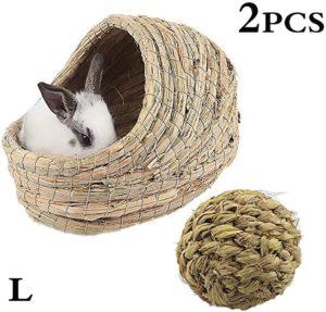 cama de heno para conejos