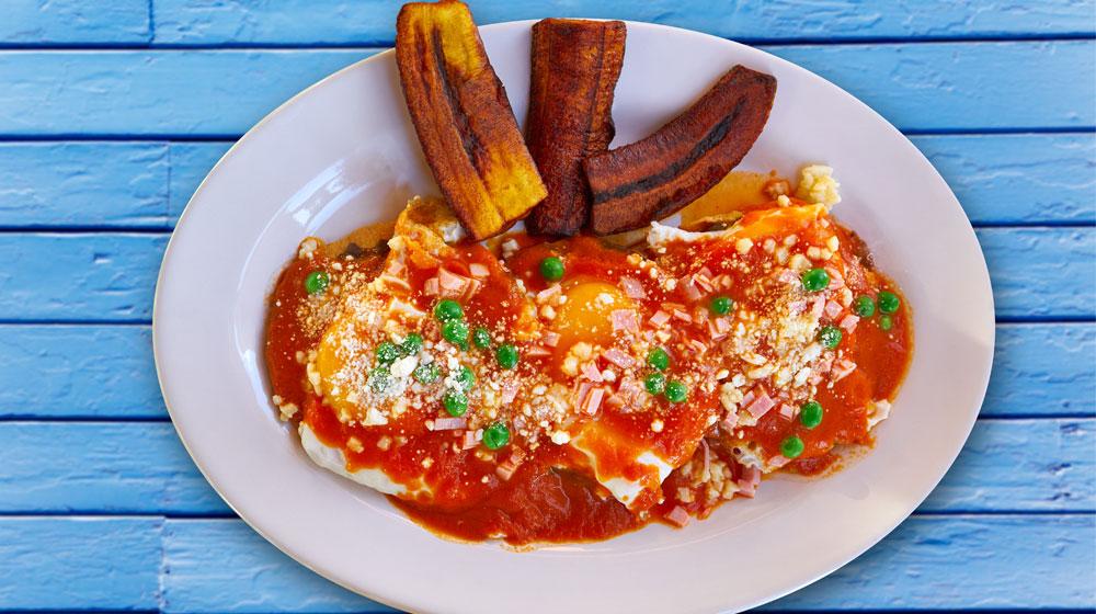 Huevos Motuleños comida de yucatan