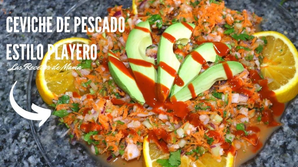 Ceviche de pescado gastronoia de nayarit