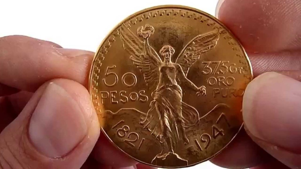 Centenario de Oro de 50 pesos monedas antiguas de mexico